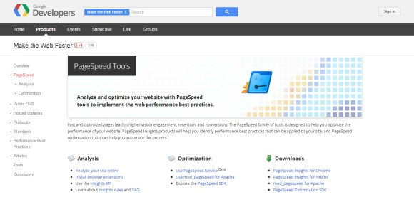 Google Pagespeed Tool