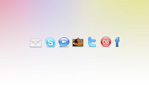 Sosyal ağ ikonları