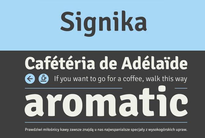 Signika Ücretsiz Font