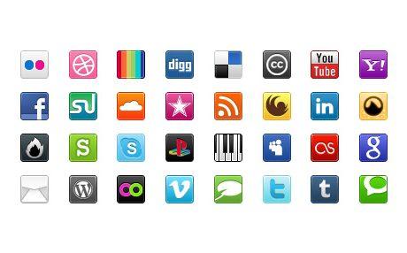 Sosyal Medya İkon Seti 1