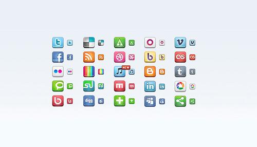 Sosyal medya ikon seti