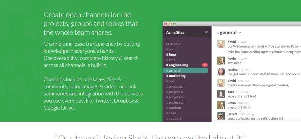 Slack is team communication for the 21st century