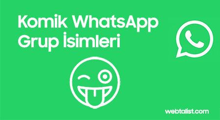 Komik WhatsApp grup isimleri