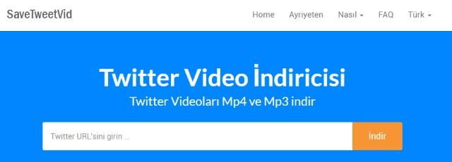 Twitter video indir