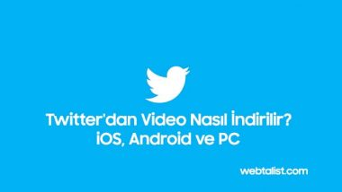 Twitter'dan Video İndirmek